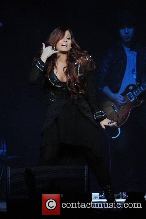 demi lovato performing live during the y100 5768509