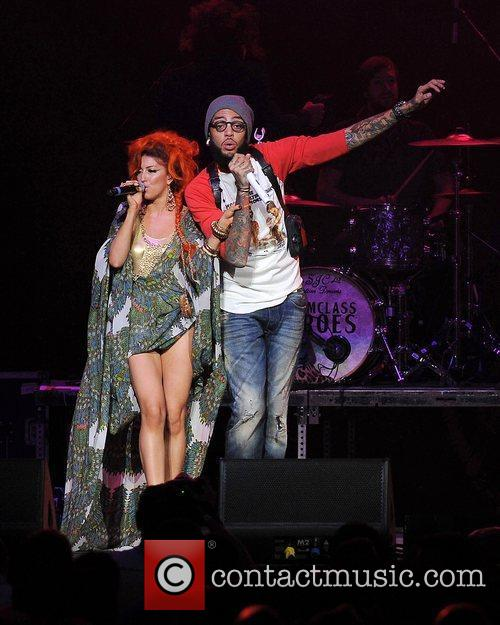Neon Hitch and Travie McCoy of Gym Class...