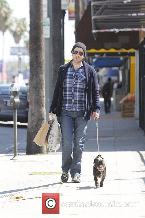 Seen out and about with his dog