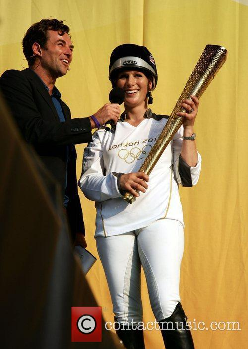 zara phillips with the olympic flame at 3902466