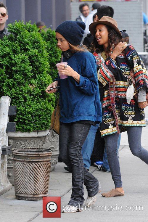 Zoe Kravitz walking in Manhattan New York City,...