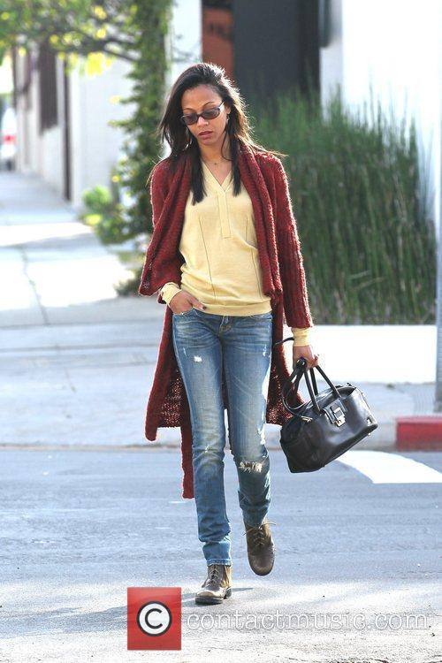 Zoe Saldana out and about in West Hollywood...