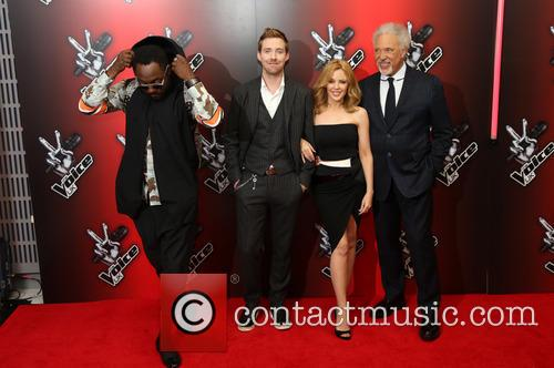 Kylie Minogue, Will.i.am, Ricky Wilson and Sir Tom Jones 3