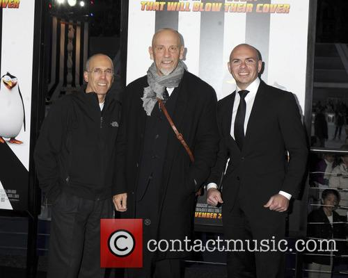 Jeffrey Katzenberg, John Malkovich and Pitbull 3