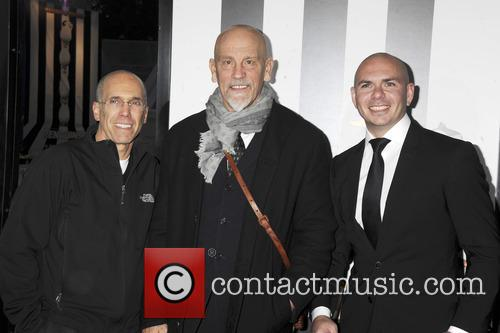 Jeffrey Katzenberg, John Malkovich and Pitbull 1