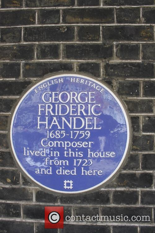 Jimi Hendrix and Georg Frideric Handel Blue Plaque 1