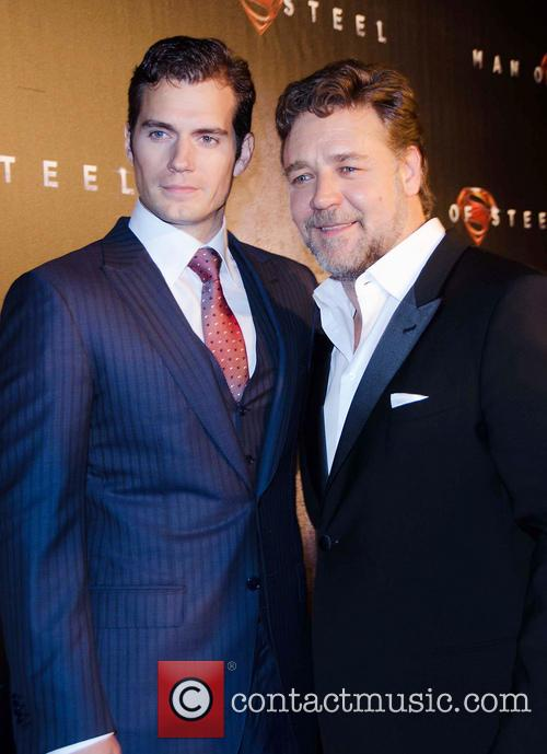 Henry Cavill and Russell Crowe 2