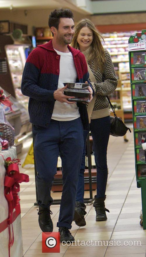 EXCLUSIVE Adam Levine and his girlfriend Behati Prinsloo...