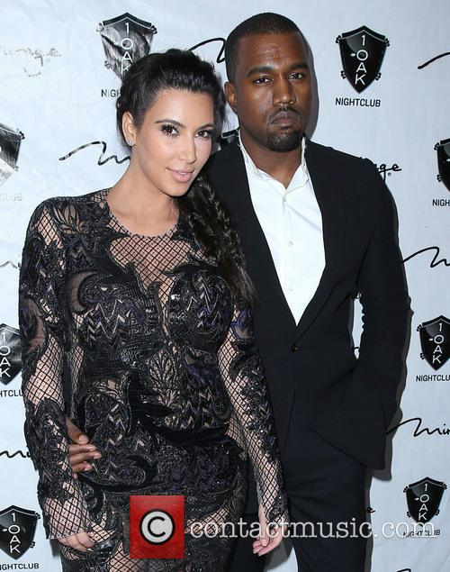 Kim Kardashian and Kanye West out at 1...