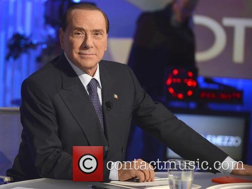 Silvio Berlusconi on the 'Otto e Mezzo' show