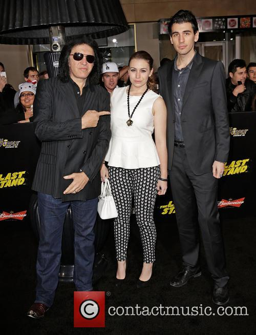 Gene Simmons, Sophie Simmons and Nick Simmons 1