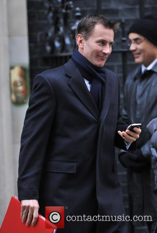 Jeremy Hunt - Ministers leave 10 Downing Street...