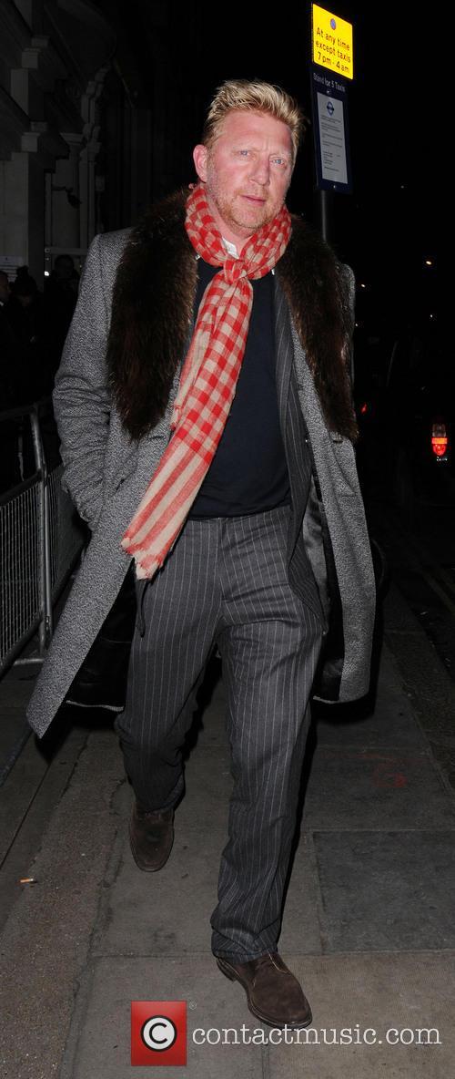 Boris Becker - Boris Becker Leaving Nobu Restaurant...