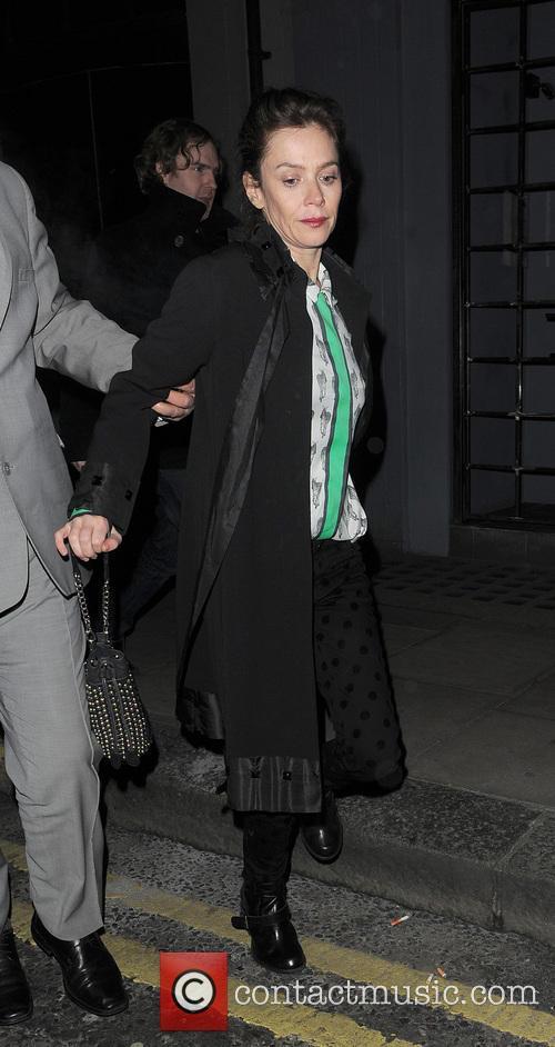 Anna Friel - Anna Friel Leaving Groucho London...