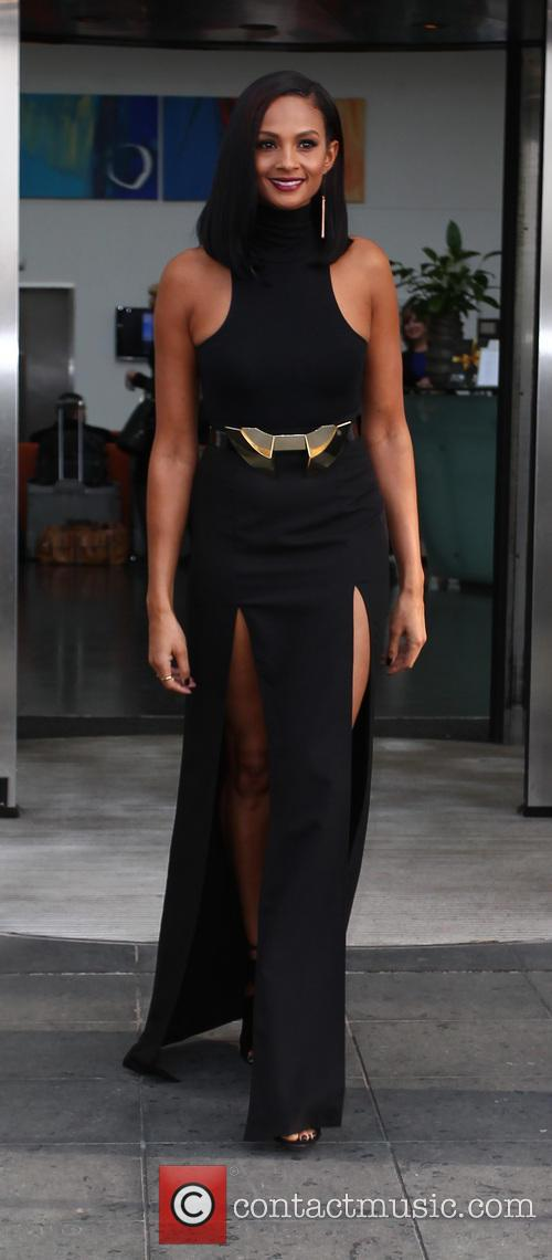 Alesha Dixon - Celebrities depart their hotel ahead...
