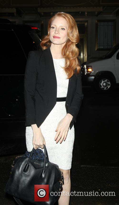 jessica chastain jessica chastain arrives for the broadway 3455643