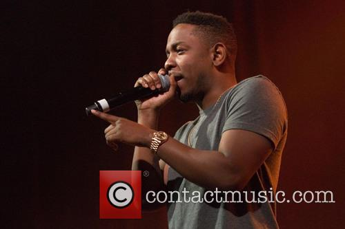 Kendrick Lamar Performing at a Concert in Glasgow, Scotland United Kingdom