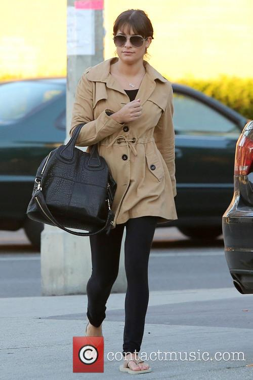 Lea Michele - Lea Michele exits the salon...