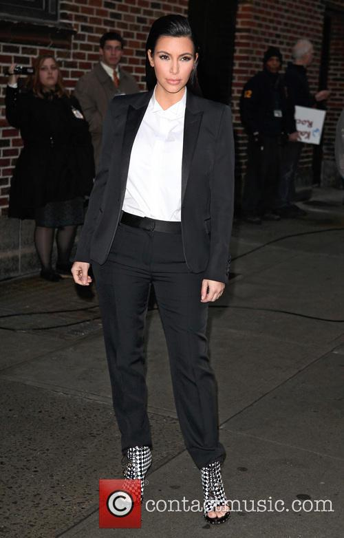 Kim Kardashian, David Letterman Late Show NYC, Ed Sullivan Theater