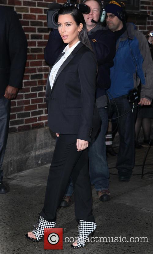 Kim Kardashian, David Letterman Late Show NYC, Ed Sullivan Theater