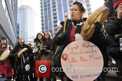 Atmosphere and protesters - 'Idle No More' Rally...