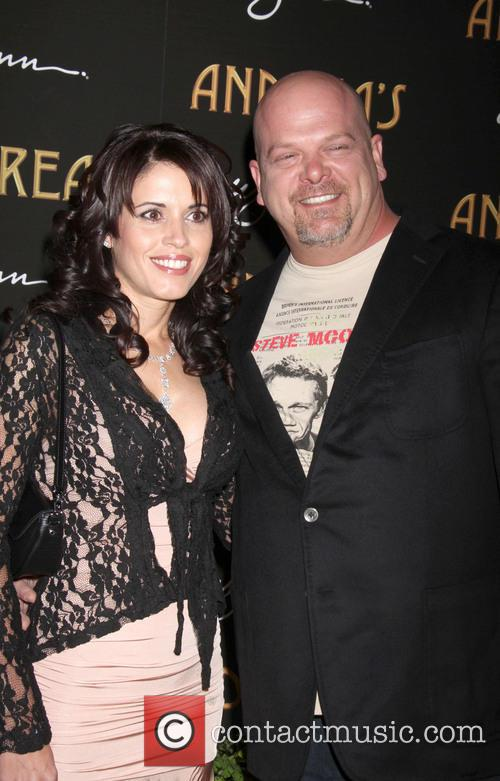 Rick Harrison and DeAnna Burditt at Andrea's restaurant opening