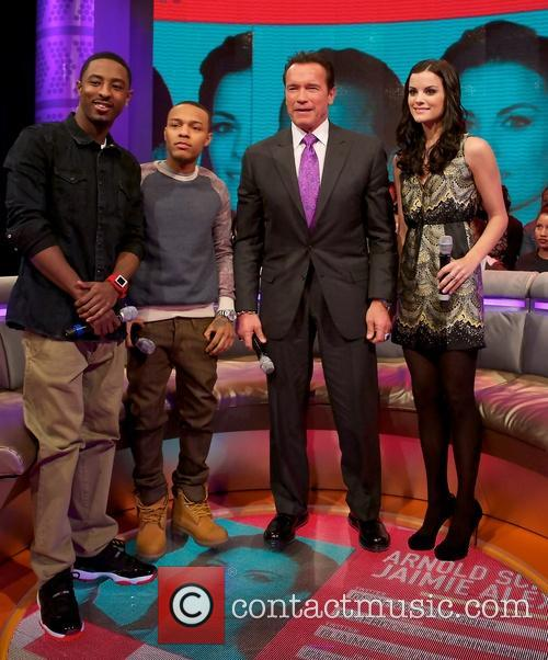 Shorty, Bow Wow, Arnold Schwarzenegger and Jaimie Alexander 2