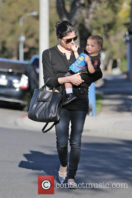 selma blair selma blair and her young son 3457110