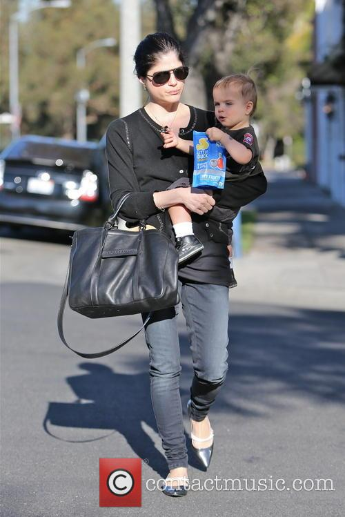 selma blair selma blair and her young son 3457113