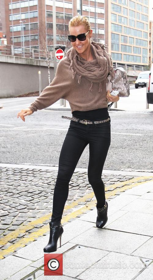 Strictly Come Dancing celebrities outside their Birmingham hotel