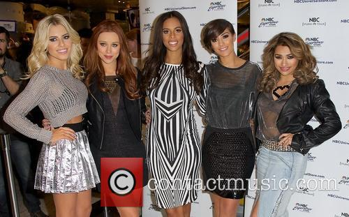 mollie king una healy rochelle humes frankie sandford vanessa white 'the saturdays' 3456745