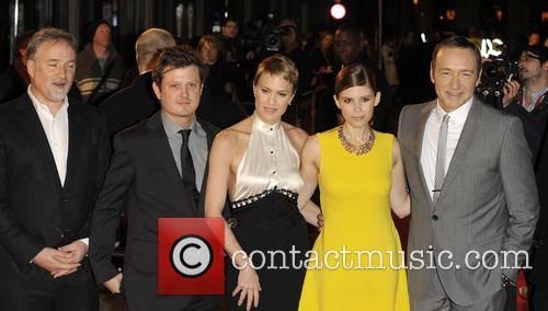 David Fincher, Beau Willimon, Robin Wright, Kate Mara and Kevin Spacey