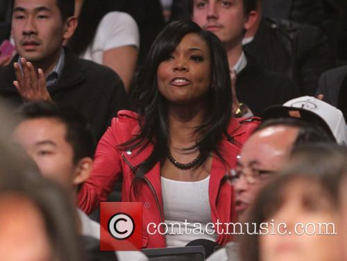 gabrielle union celebrities at the lakers game 3458142