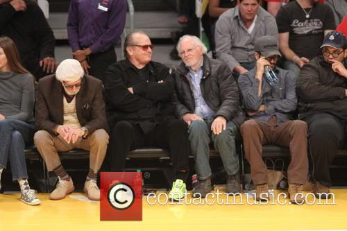 Jack Nicholson, Bruce Dern, Staples Center