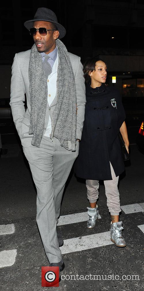 Amar'e Stoudemire and Alexis Welch (wife) 2