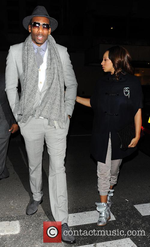 Amar'e Stoudemire and Alexis Welch (wife) 3