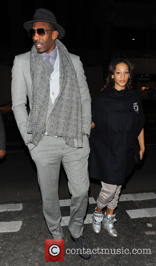 Amar'e Stoudemire and Alexis Welch (wife) 1