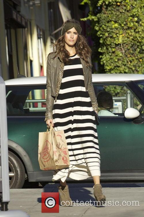 EXCLUSIVE EXCLUSIVE EXCLUSIVE Louise Roe seen out shopping...