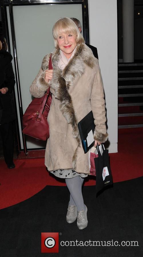 Dame Helen Mirren seen leaving BFI Southbank