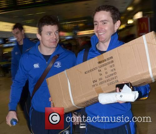 Brian O'driscoll, Eoin Reddan and Leinster Flag (made In China) 3