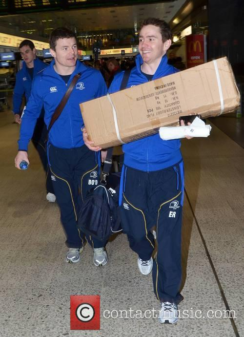 Brian O'driscoll, Eoin Reddan and Leinster Flag (made In China) 4
