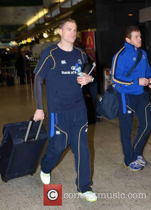 Leinster Rugby squad fly out from Dublin Airport