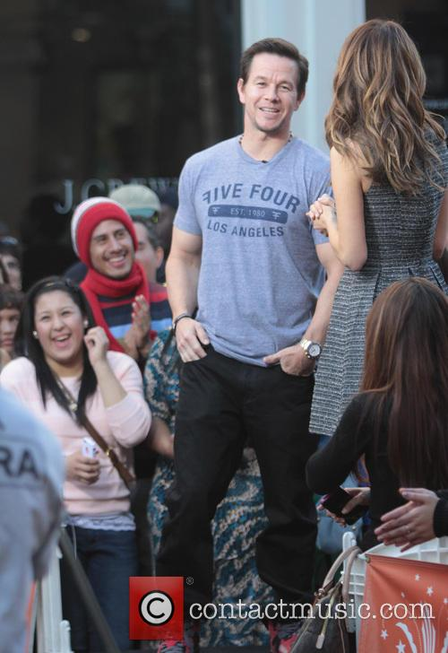 Mark Wahlberg at the Grove on EXTRA TV Show in Los Angeles