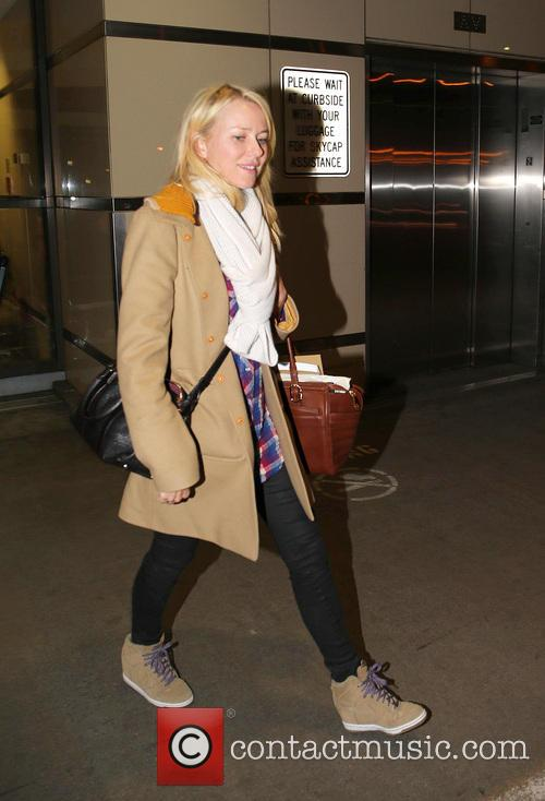 Naomi Watts arrives at Los Angeles International Airport