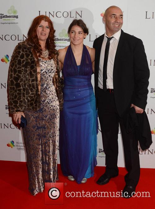 Brigid Taylor, Katie Taylor and Peter Taylor 2