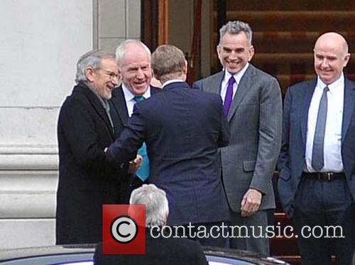 Steven Spielberg, Daniel Day-lewis, Enda Kenny and Jimmy Deenihan 2