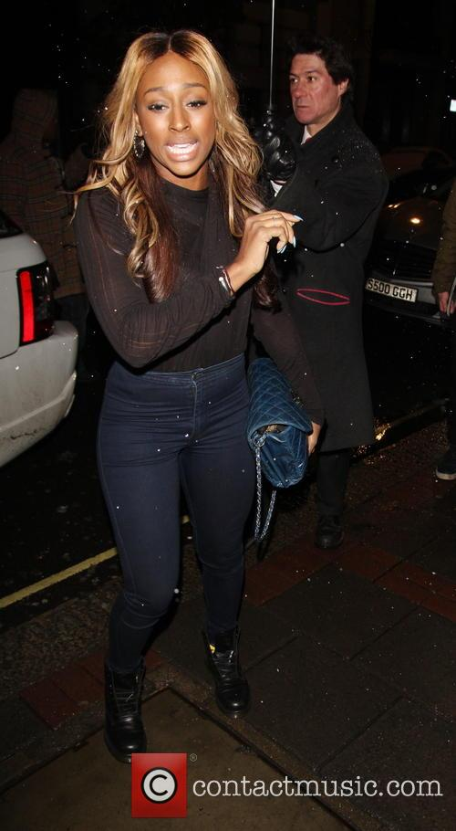 Alexandra Burke Celebratres Brother's  Birthday