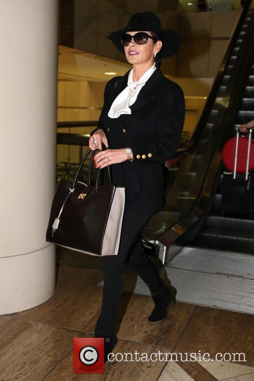 Catherine Zeta-Jones exits LAX Airport