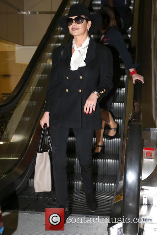 Catherine Zeta-Jones exits LAX Airport