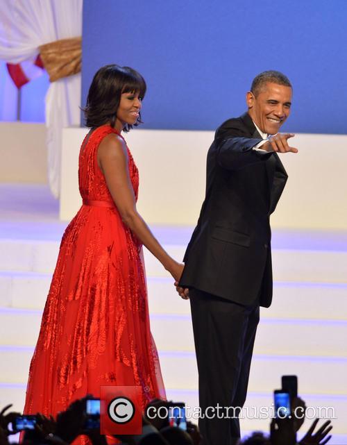 Michelle And Barack Obama, Inaugural Ball